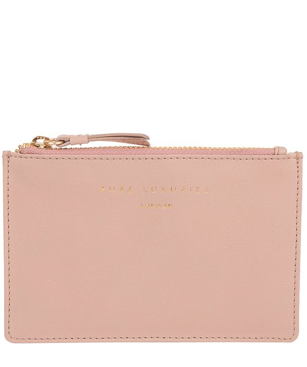 'Pinner' Blush Pink Leather Coin Purse