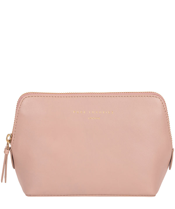 'Theydon' Blush Pink Leather Make-Up Bag
