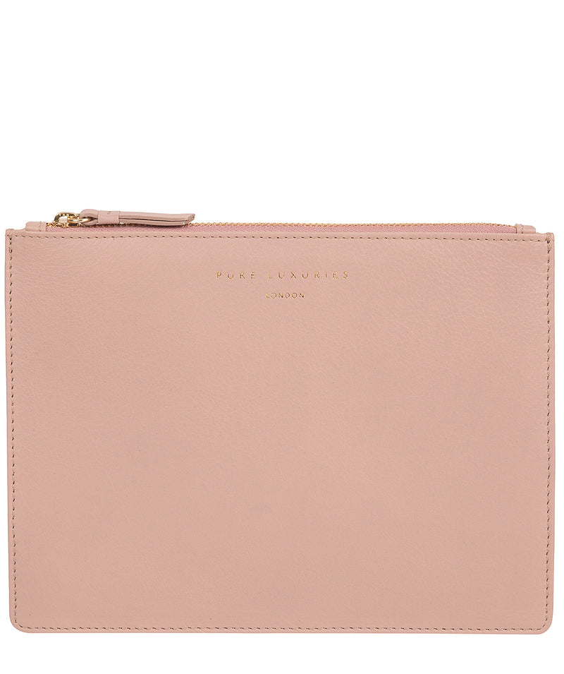'Tadlow' Blush Pink Leather Pouch