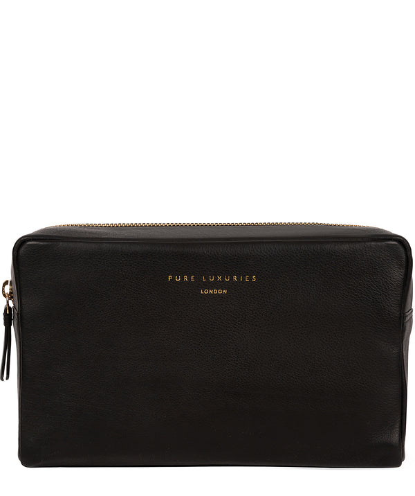'Highgate' Black Leather Make-Up Bag
