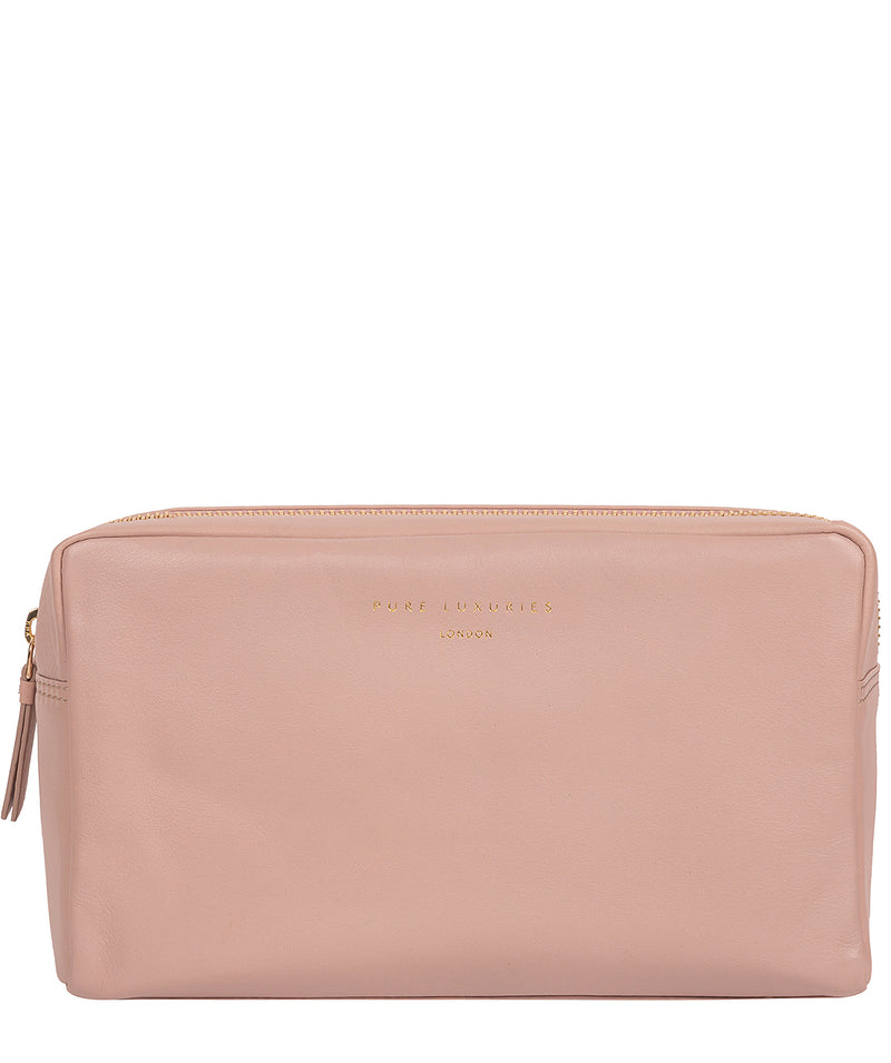 'Highgate' Blush Pink Leather Make-Up Bag