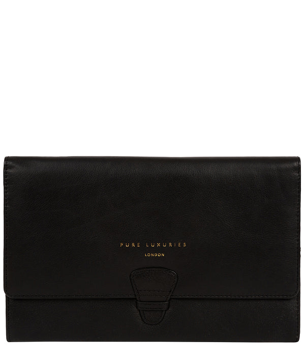 'Piccadilly' Black Leather Travel Wallet