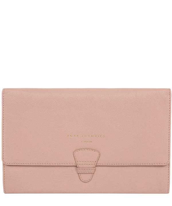 'Piccadilly' Blush Pink Leather Travel Wallet