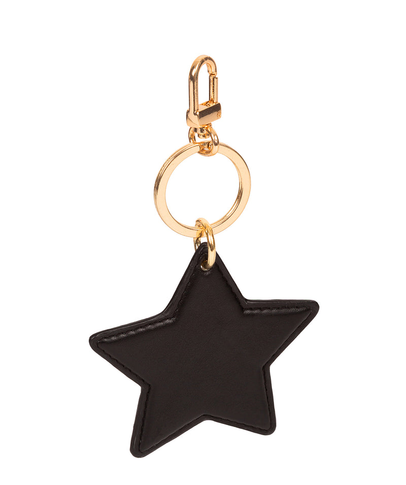 'Drayton' Black Leather Star Keyrings