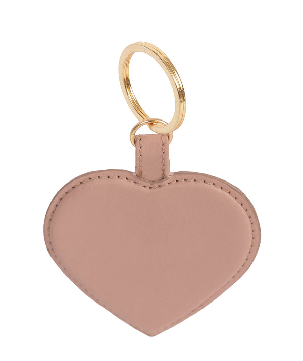 'Albany' Blush Pink Leather Heart Keyrings