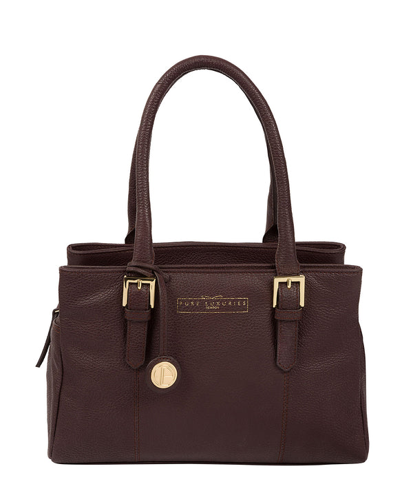 'Astley' Plum Leather Handbag