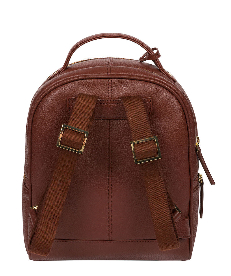'Hayes' Chestnut Leather Backpack