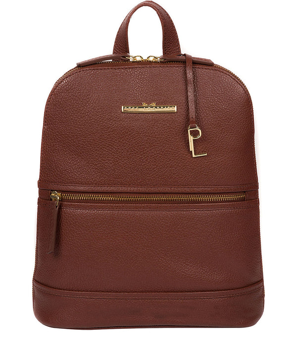'Elland' Chestnut Leather Backpack