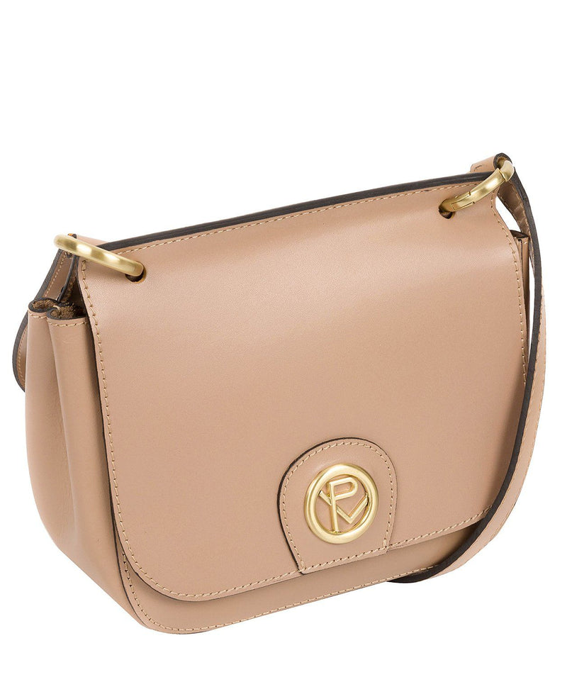 'Ennerdale' Blush Pink Leather Cross Body Clutch Bag