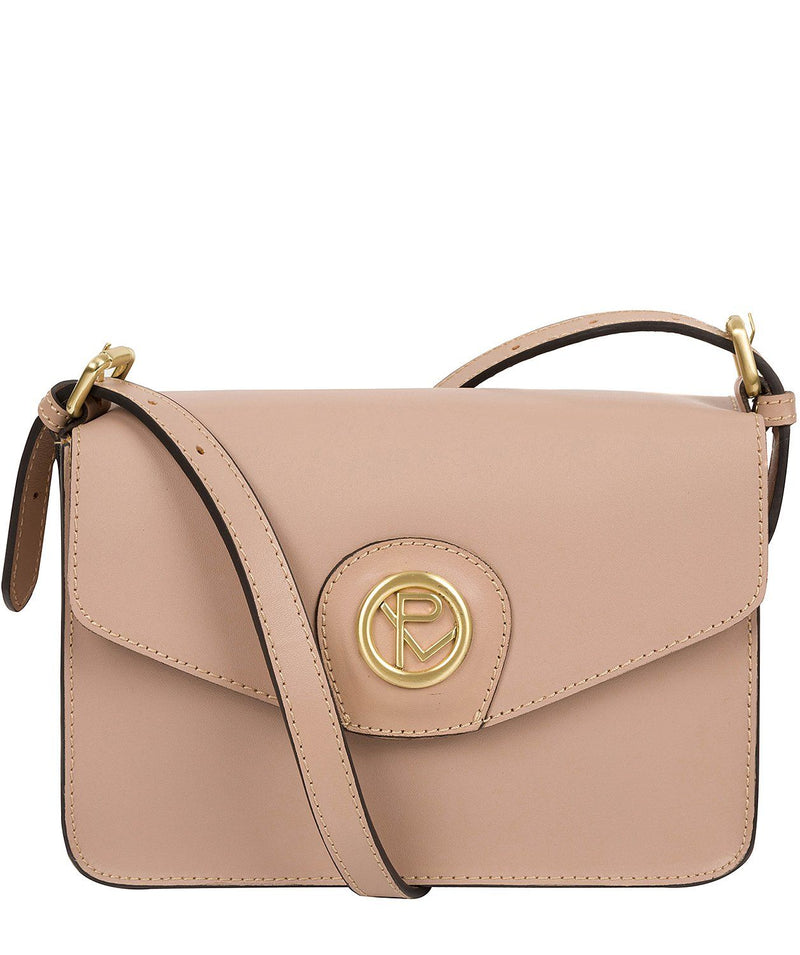 'Langdale' Blush Pink Leather Cross Body Clutch Bag