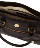 'Poppy' Dark Brown Leather Handbag