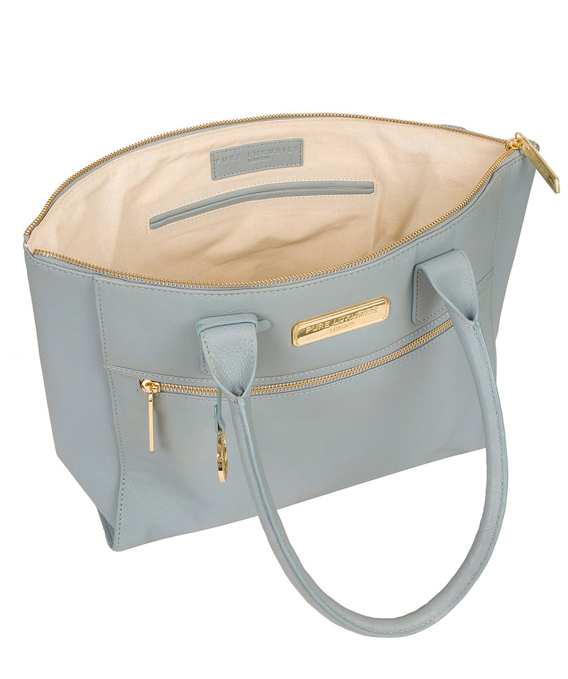 'Faye' Cashmere Blue Leather Tote Bag