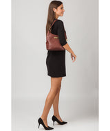 'Abigail' Chestnut Leather Shoulder Bag