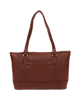 'Keira' Chestnut Leather Tote Bag