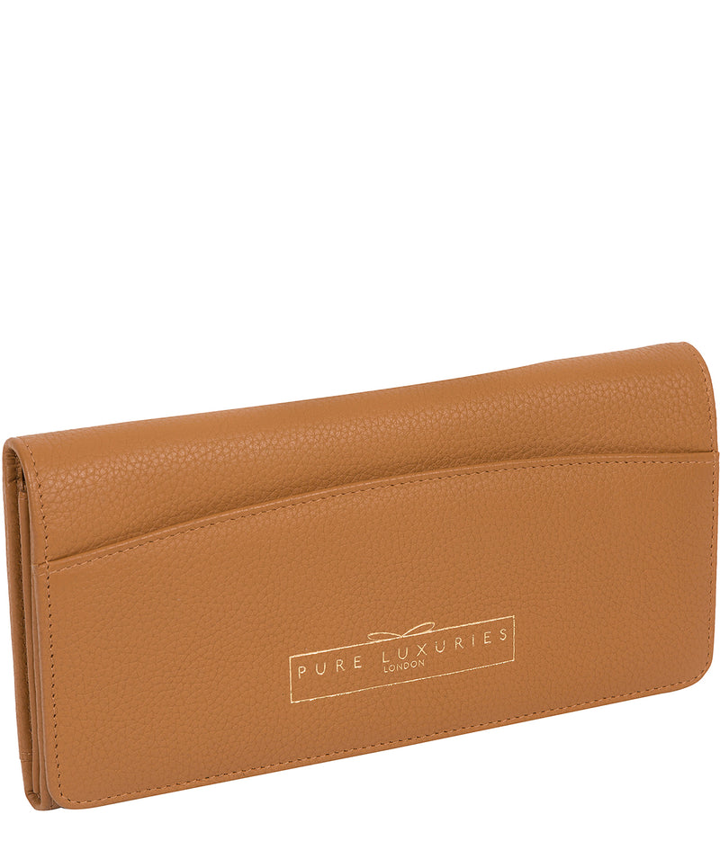 'Izabel' Tan Leather Purse