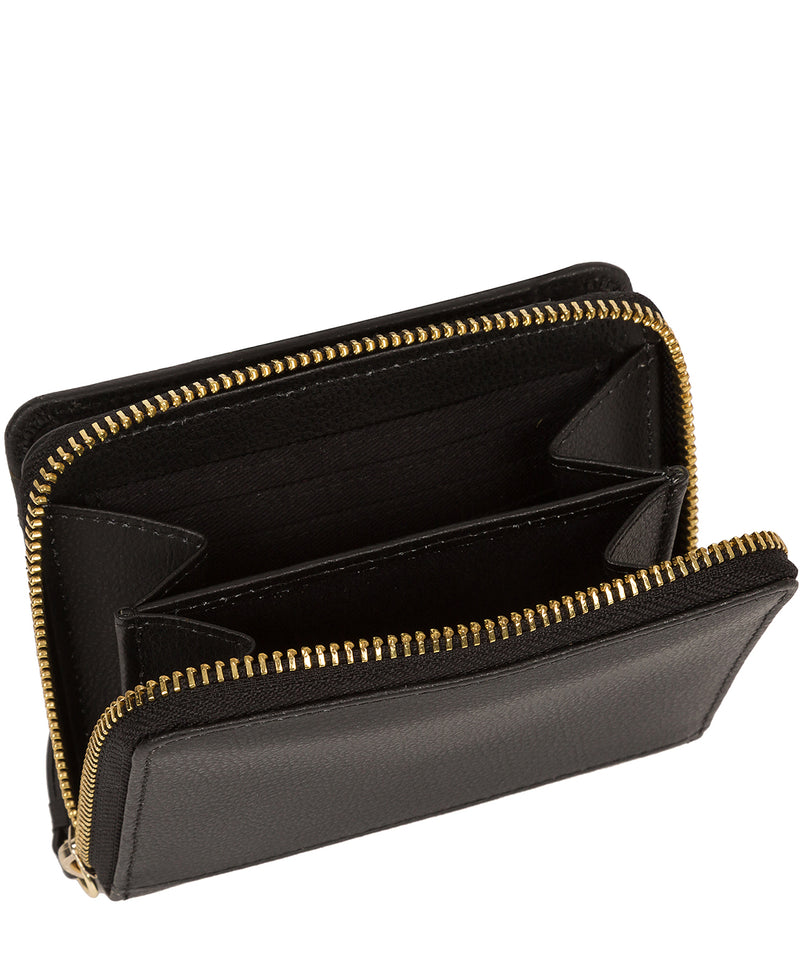 'Emely' Jet Black Leather Purse