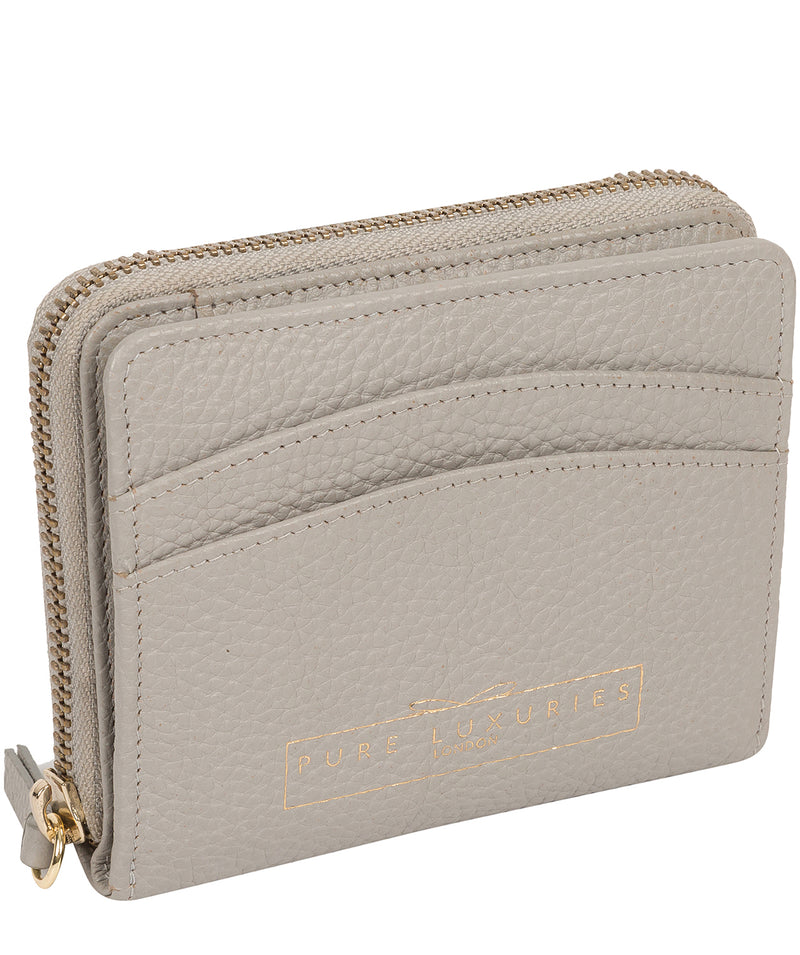 'Emely' Light Grey Leather Purse