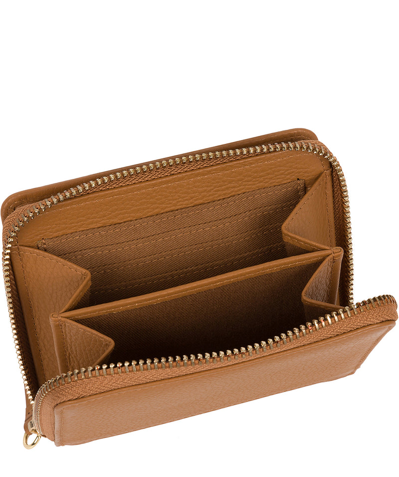 'Emely' Tan Leather Purse