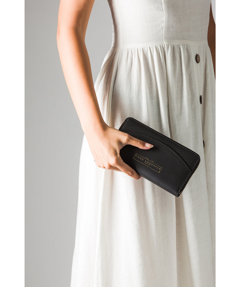 'Jenika' Jet Black Leather Purse