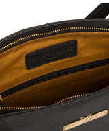 'Carly' Black Leather Medium Tote Bag image 4