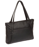 'Carly' Black Leather Medium Tote Bag image 7