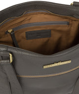 'Thea' Grey Leather Shoulder Bag image 4