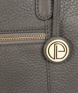 'Thea' Grey Leather Shoulder Bag image 6