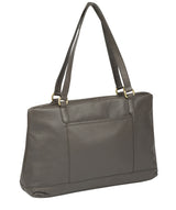 'Thea' Grey Leather Shoulder Bag image 7