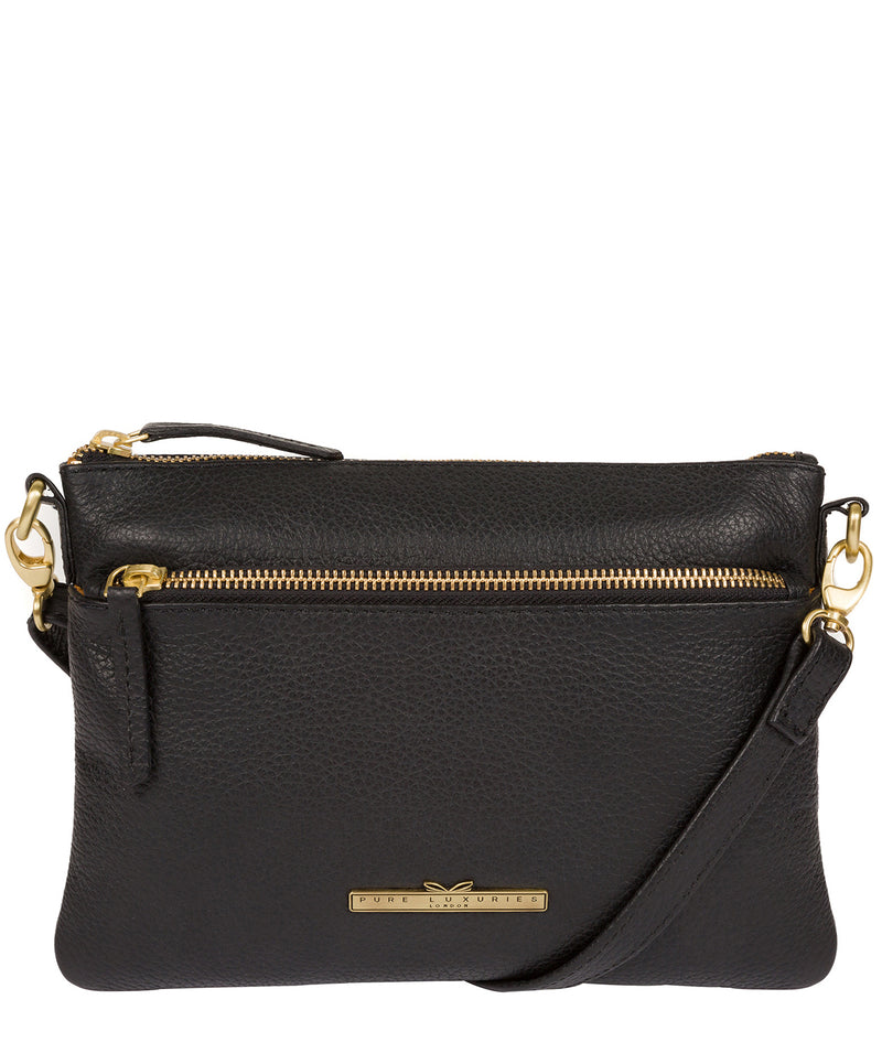 'Louise' Black Leather Cross Body Bag image 1