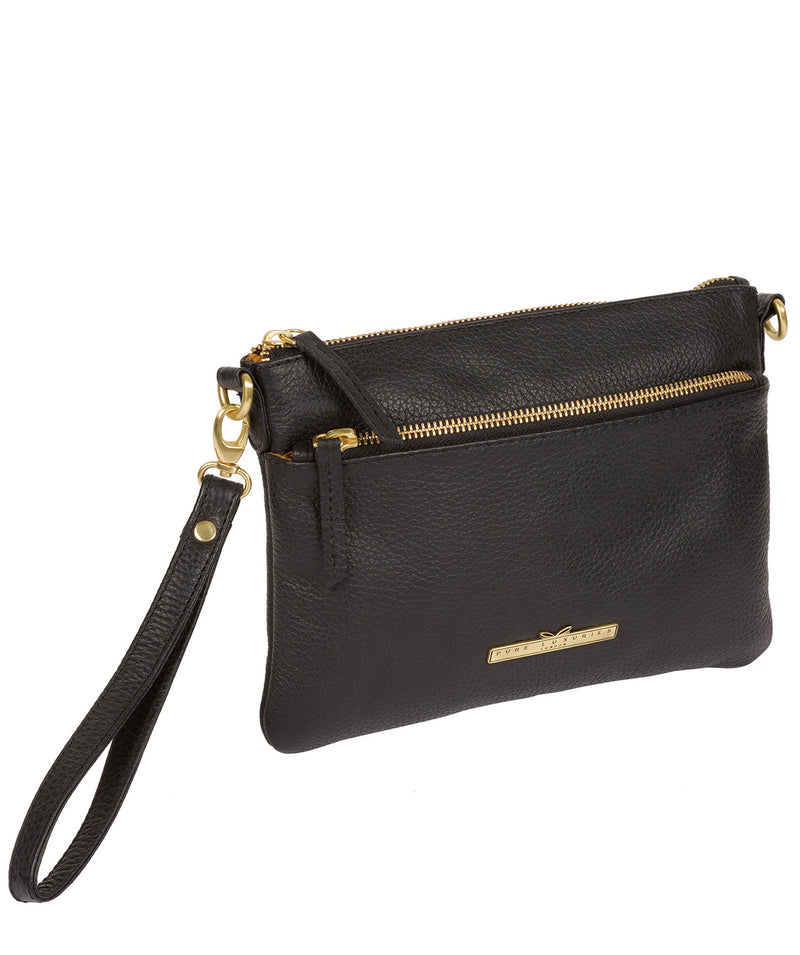 'Louise' Black Leather Cross Body Bag image 4