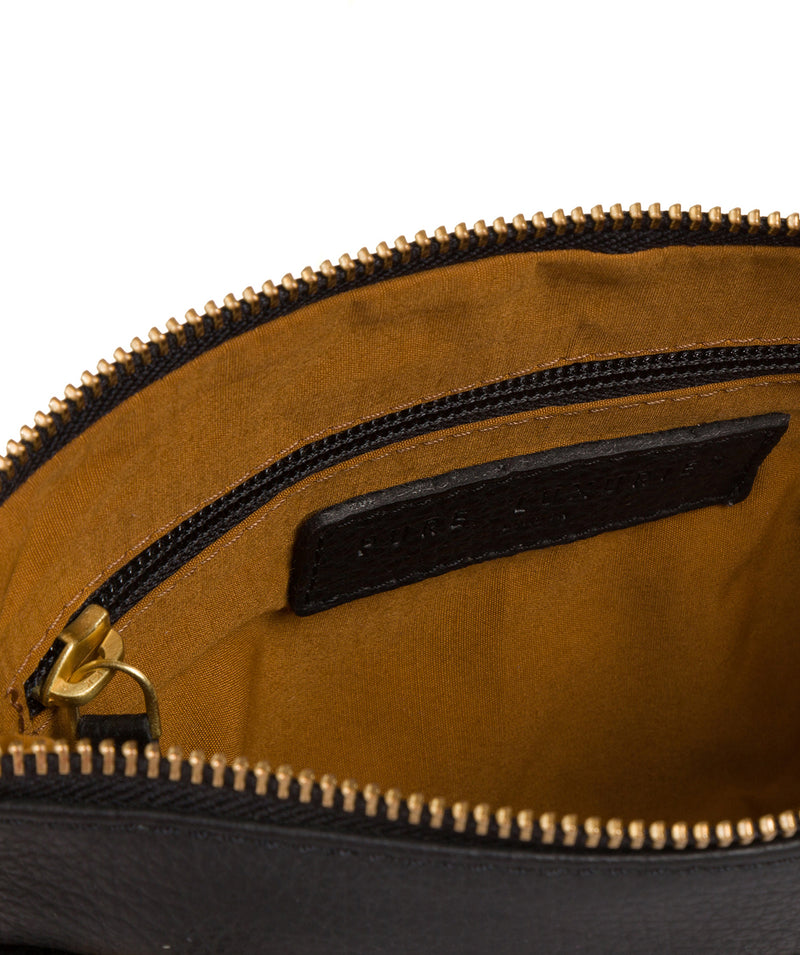 'Louise' Black Leather Cross Body Bag image 5