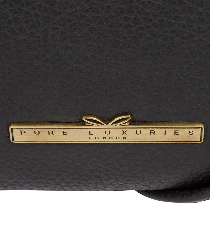 'Louise' Black Leather Cross Body Bag image 6