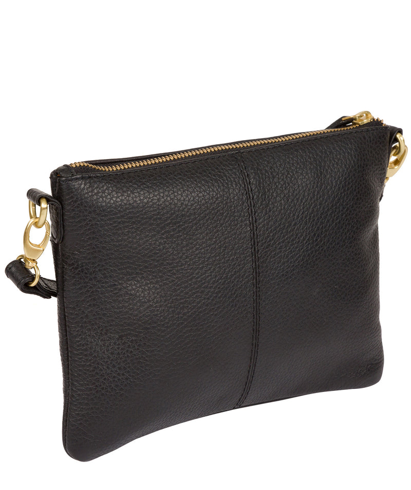 'Louise' Black Leather Cross Body Bag image 8