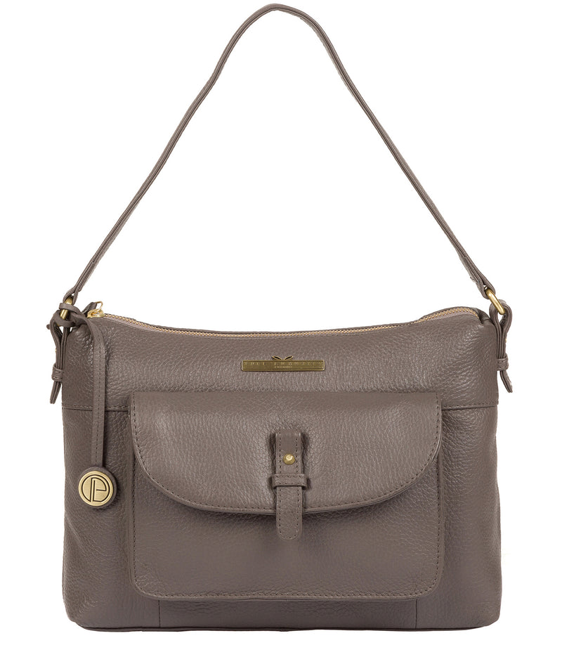 'Betsy' Grey Leather Shoulder Bag image 1