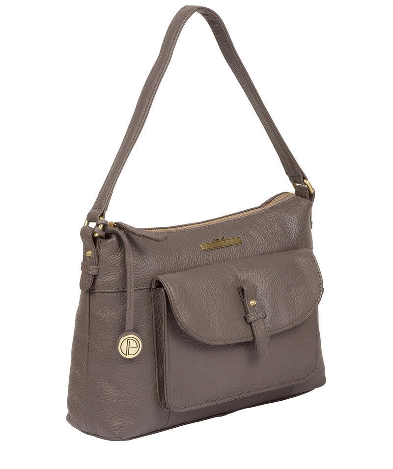'Betsy' Grey Leather Shoulder Bag image 3