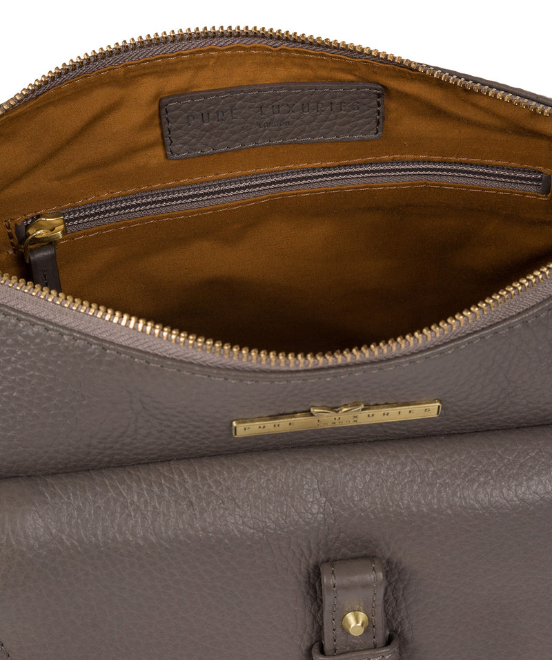 'Betsy' Grey Leather Shoulder Bag image 4