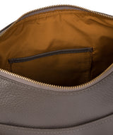 'Betsy' Grey Leather Shoulder Bag image 5