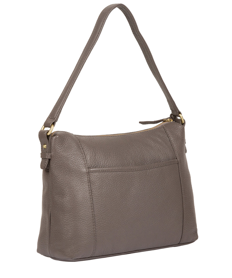 'Betsy' Grey Leather Shoulder Bag image 6
