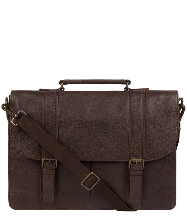 'Logan' Cocoa Leather Work Bag image 1