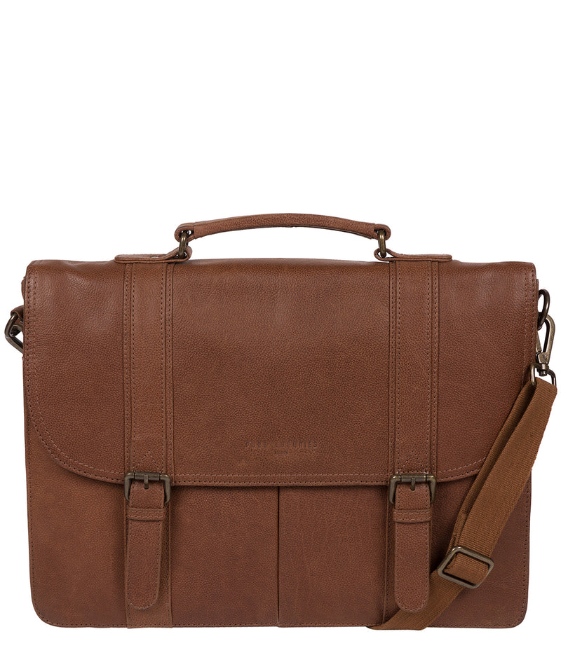'Logan' Hazelnut Leather Work Bag image 1