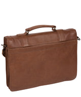 'Logan' Hazelnut Leather Work Bag image 3