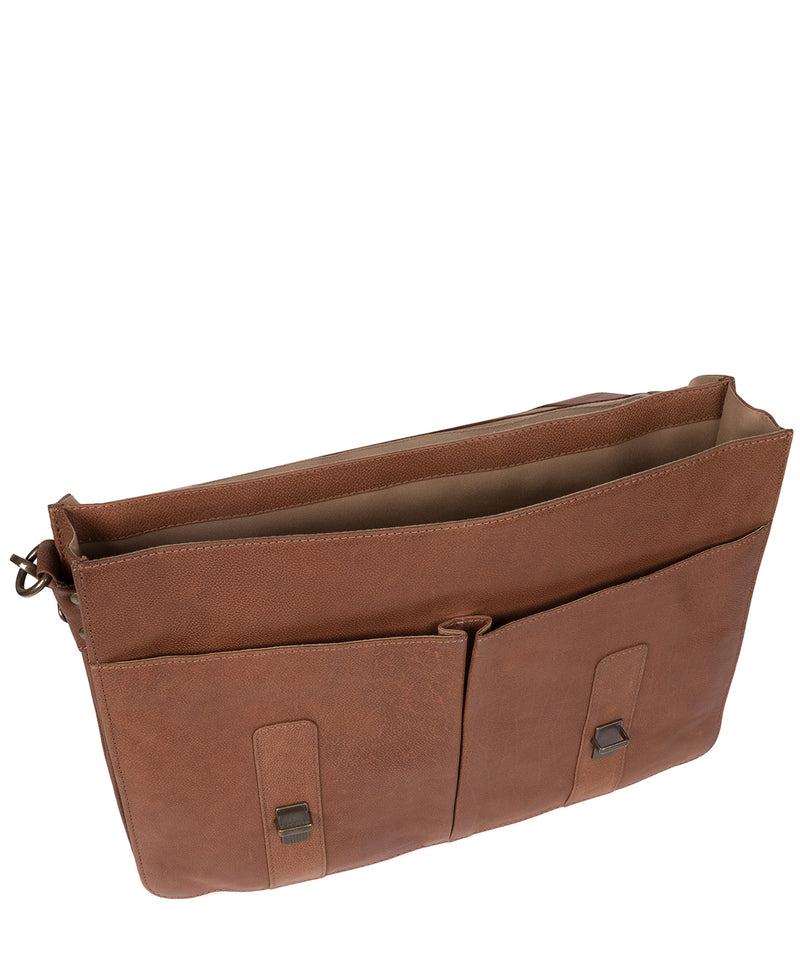 'Logan' Hazelnut Leather Work Bag image 4