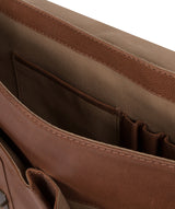 'Logan' Hazelnut Leather Work Bag image 5