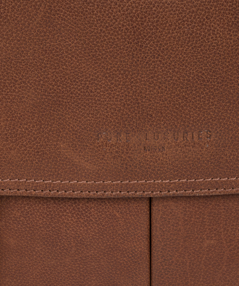 'Logan' Hazelnut Leather Work Bag image 6