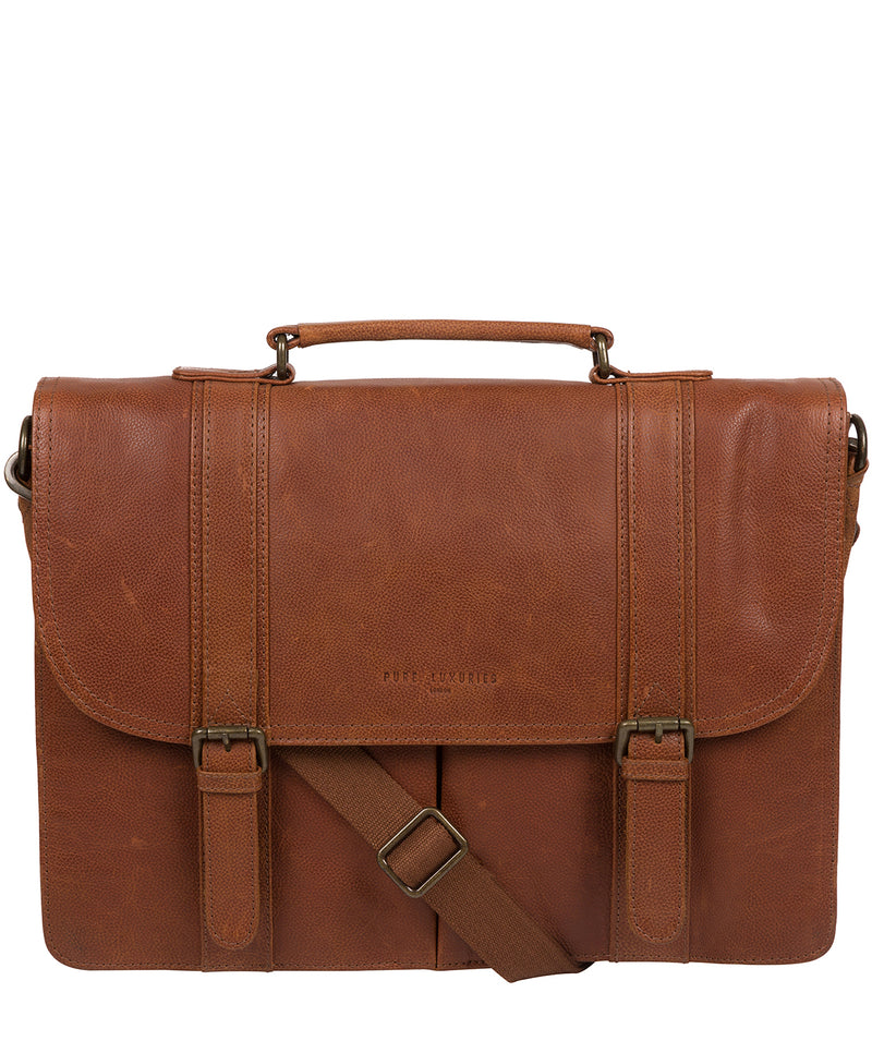 'Logan' Tan Leather Work Bag image 1