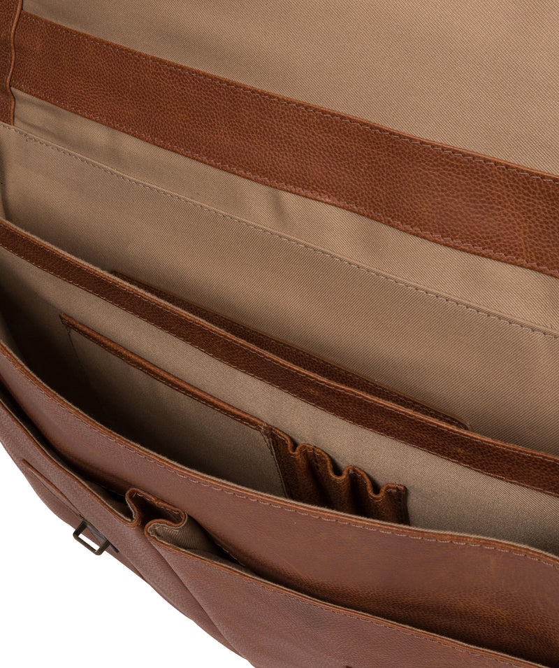 'Logan' Tan Leather Work Bag image 4