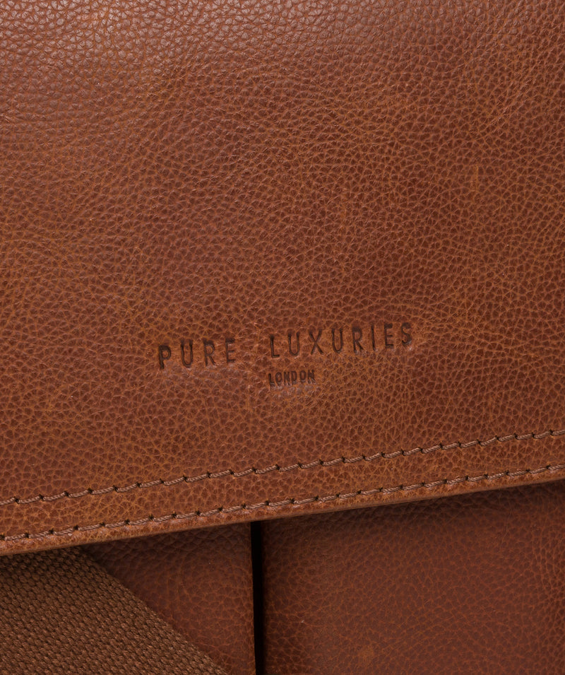 'Logan' Tan Leather Work Bag image 6