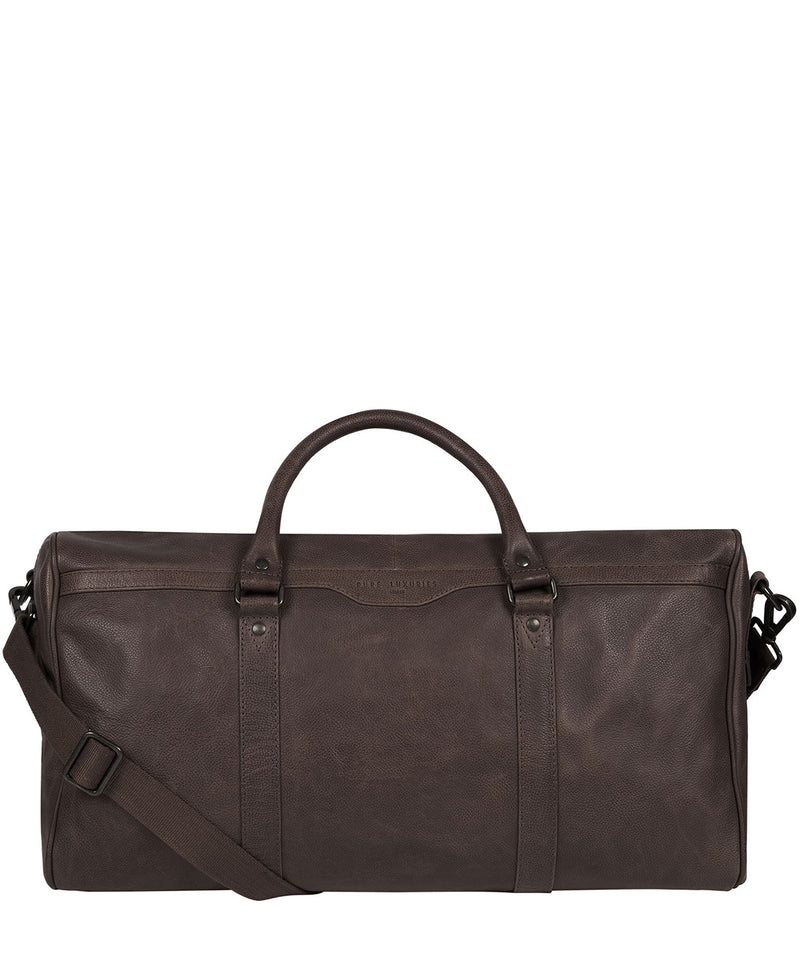 'Blanc' Cocoa Leather Holdall image 1