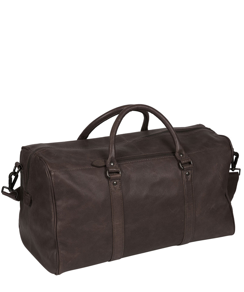 'Blanc' Cocoa Leather Holdall image 3