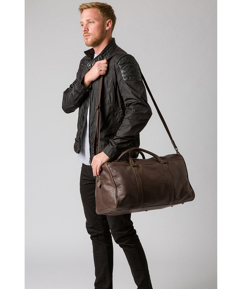'Blanc' Cocoa Leather Holdall image 2
